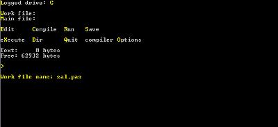 Esta era la IDE de la versión 1.0